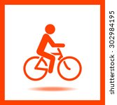 bicycle icon | Shutterstock .eps vector #302984195