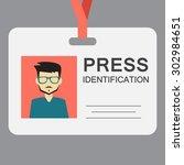 press identification  flat... | Shutterstock .eps vector #302984651