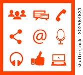 communication icons | Shutterstock .eps vector #302984831
