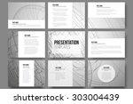 set of 9 vector templates for... | Shutterstock .eps vector #303004439