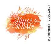 template design of logo  stamp... | Shutterstock .eps vector #303012677