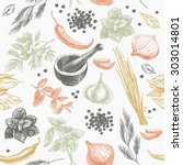 vector seamless pattern with... | Shutterstock .eps vector #303014801