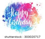 vector hand painted watercolor... | Shutterstock .eps vector #303020717