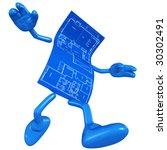 home construction blueprint | Shutterstock . vector #30302491