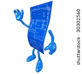 home construction blueprint | Shutterstock . vector #30302560