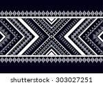 geometric ethnic pattern design ... | Shutterstock .eps vector #303027251