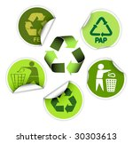 set of green labels badges and... | Shutterstock .eps vector #30303613