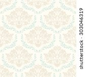 seamless damask pattern | Shutterstock .eps vector #303046319