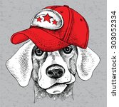 Image Portrait Of A Dog Wearin...