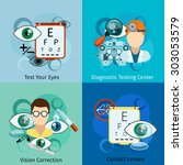 ophthalmology concepts. eye and ... | Shutterstock .eps vector #303053579