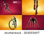 sports background | Shutterstock . vector #303055697