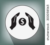 pictograph of money in hand | Shutterstock .eps vector #303058565