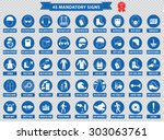 mandatory signs  construction... | Shutterstock .eps vector #303063761