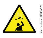 falling debris hazard sign | Shutterstock .eps vector #30306673