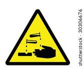 corrosive hazard sign   Shutterstock .eps vector #30306676