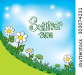 hand drawn summer background | Shutterstock .eps vector #303074231