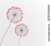 stock vector romantic couple of ... | Shutterstock .eps vector #303094844