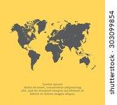 world map illustration | Shutterstock .eps vector #303099854