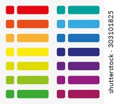 14 sets of flat buttons in... | Shutterstock .eps vector #303101825