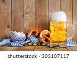 original bavarian soft pretzels ...   Shutterstock . vector #303107117