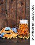 original bavarian oktoberfest...   Shutterstock . vector #303107207