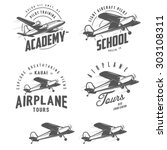 light airplane related emblems  ... | Shutterstock . vector #303108311