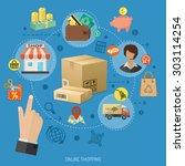 vector illustration in... | Shutterstock .eps vector #303114254