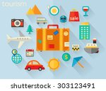 flat design detailed concept... | Shutterstock .eps vector #303123491