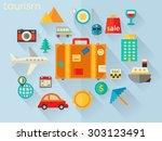 flat design detailed concept... | Shutterstock .eps vector #303123491