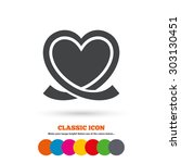 heart ribbon sign icon. love... | Shutterstock .eps vector #303130451