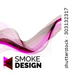color smoke wave on white  ...   Shutterstock .eps vector #303132317