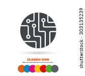 circuit board sign icon.... | Shutterstock .eps vector #303135239