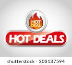 hot deal design  vector... | Shutterstock .eps vector #303137594