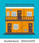 city urban design  vector... | Shutterstock .eps vector #303141455