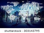 world population global people... | Shutterstock . vector #303143795