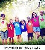children friendship... | Shutterstock . vector #303146159