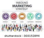 inbound marketing strategy... | Shutterstock . vector #303152894