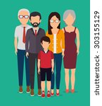 people digital design  vector... | Shutterstock .eps vector #303155129