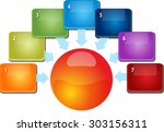 blank business strategy concept ... | Shutterstock .eps vector #303156311