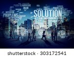 solution solve problem strategy ... | Shutterstock . vector #303172541