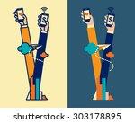 fonticon typeface   v | Shutterstock .eps vector #303178895