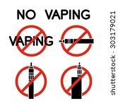 no vape icons. no vaping... | Shutterstock .eps vector #303179021