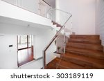 Image Of Solid Wooden Stairs...