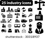 industry icons   black series.... | Shutterstock .eps vector #30318937