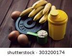 shaker  measuring scoop with...   Shutterstock . vector #303200174