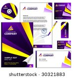editable corporate identity... | Shutterstock .eps vector #30321883