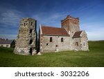 Stock photo roman lighthouse and anglo saxon church in dover castle england 3032206