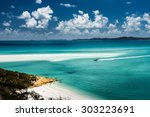 whitehaven beach in the... | Shutterstock . vector #303223691