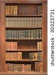 old books on the shelf   Shutterstock . vector #30323731