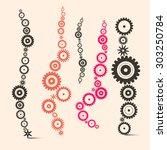 cogs   gears set | Shutterstock . vector #303250784